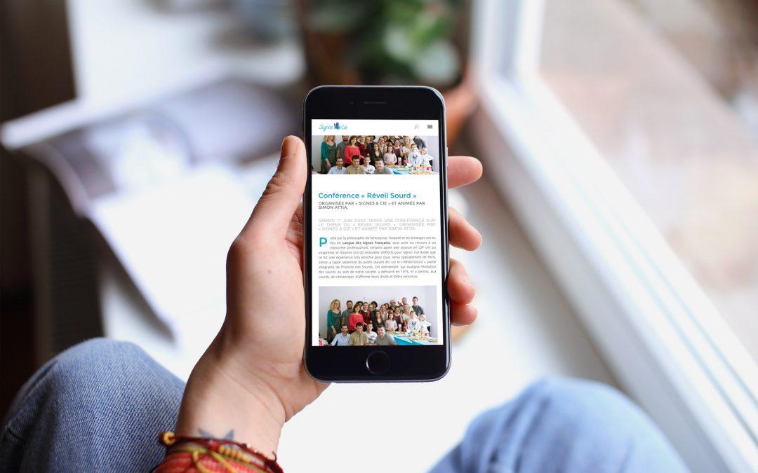 Site internet – Signes & Cie