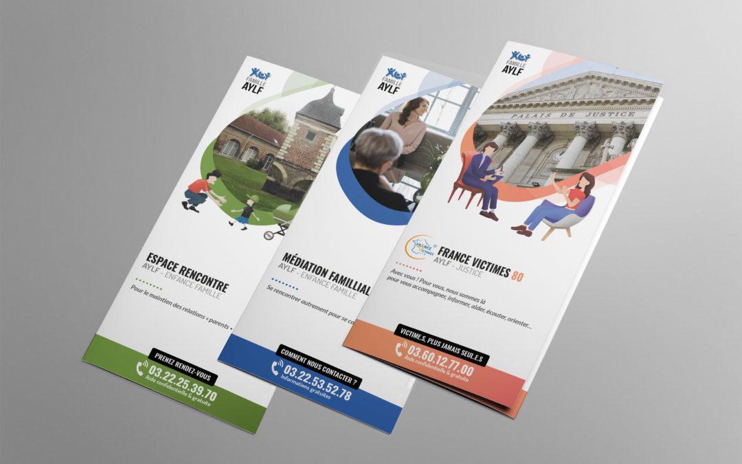 Brochures dépliant 3 volets Association Yves Lefebvre